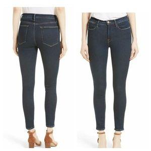 Frame Denim Le High Skinny Blue Jeans